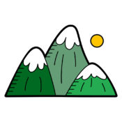 Green Mountains Illustration