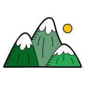Green Mountains Illustration